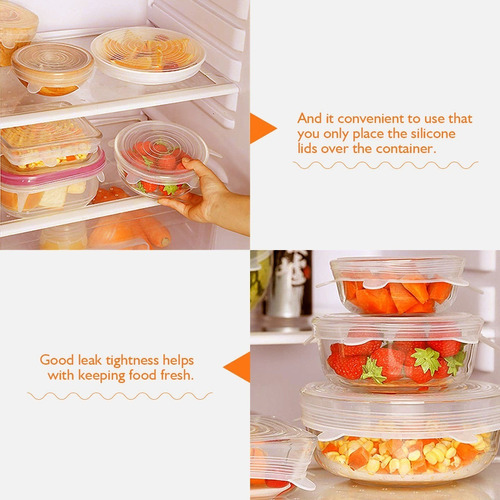 un bol/ígrafo hogar y cocina despensa de gran apertura de contenedores de grado alimentario para exhibir YBCPACK 6 tarros de almacenamiento de pl/ástico transparente con tapas y etiquetas