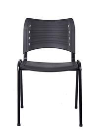Cadeira Iso Preta Plástica Igreja Recepcao Melhor Frete