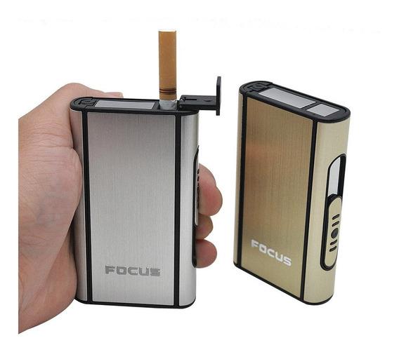 Cigarrera Automatica De Aluminio Estuche Para Cigarrillos