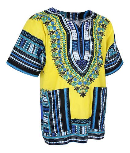Imagen 1 de 11 de Vestido Dashiki Africano Estampado Verano Mujer Vintage