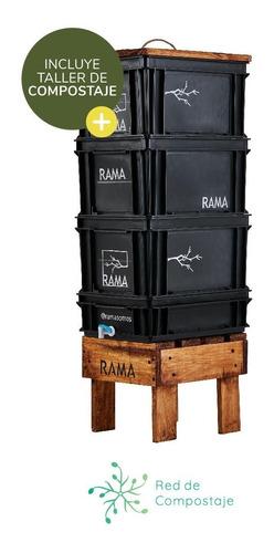 Imagen 1 de 5 de Compostera Rama Somos Doméstica 60 L Canilla - Redcompostaje