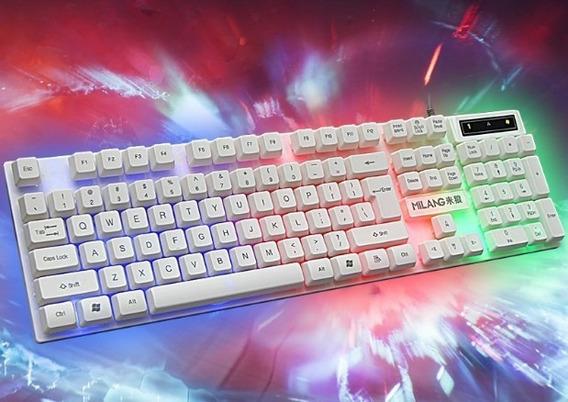 Teclado Usb Teclado Gamer Luminoso Luces Led Laptop Pc