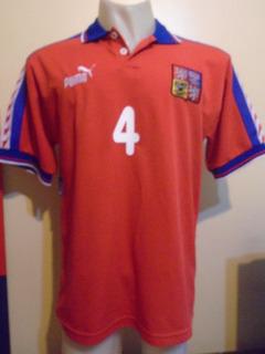 Camiseta República Checa Euro Inglaterra 1996 Nedved #4 T. L