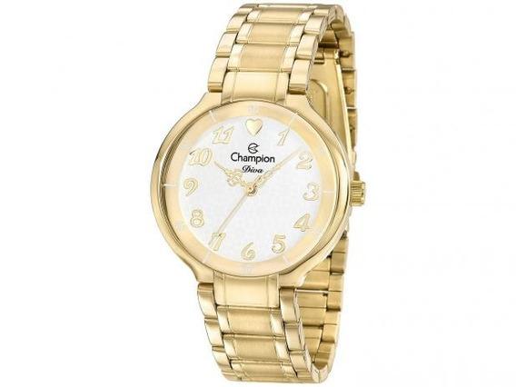 Relógio Champion Feminino Dourado Cn26395h
