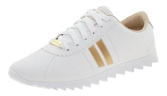 Tenis Feminino Moleca Tratorado Branco/dourado Original