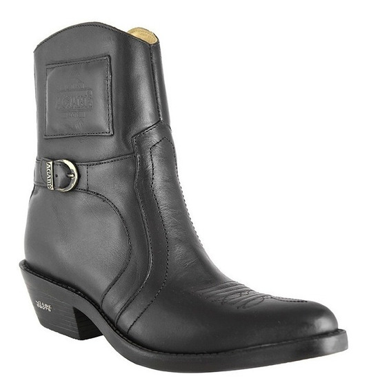 Bota Masculina Country Hb Agabê Boots Couro Preto Exclusivo
