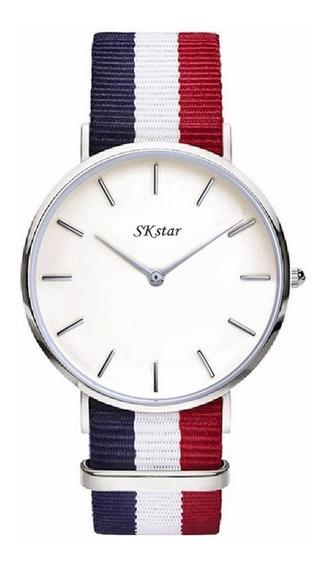Relógio Modelo Dw Skstar Unissex Luxo Casual