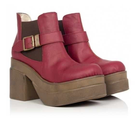 Botas Color Bordo