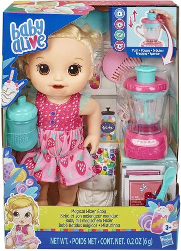 Imagen 1 de 9 de Baby Alive Muñeca Bebe Licuados Batidos Magicos Hasbro E6943
