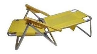 Reposera Playera Descansar 80007 Aluminio 6 Pos Selectogar