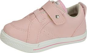 Tênis Infantil Menina Plis Calçados Sintético Rosa 558