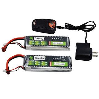 Blomiky 2 Unidades 7,4 V 5200 Mah Lipo Batería + Dean Estilo