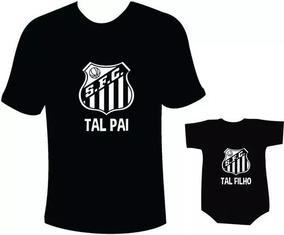 180c5ced5d1897 Camiseta Tal Pai Tal Filho (a) Time Santos C/ 3un