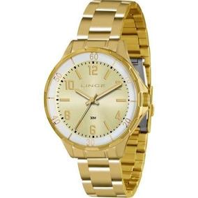 Relógio Feminino Dourado Lince Lrg4316l C2kx Lindo E Barato