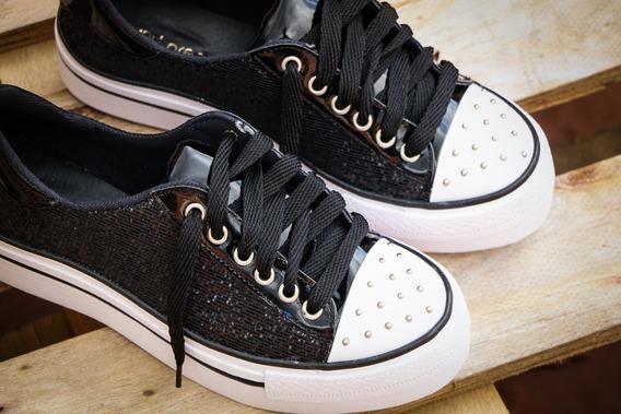 Zapatillas Y Botas Con Plataforma, Glitter, Con Tachas