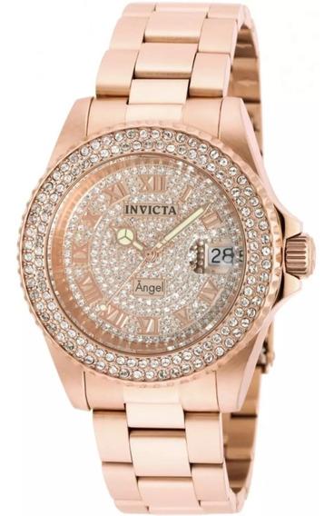 Relógio Invicta Angel 90256 Feminino Original Garantia 2anos