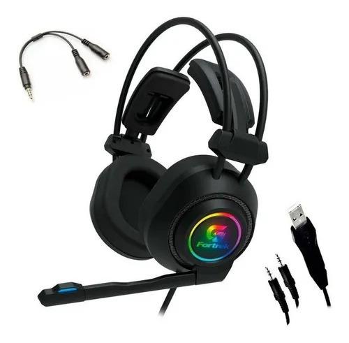 Fone Headset Gamer Rgb Vickers Pc Celular Ps4 Xbox Fortrek