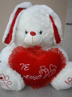 Muñeco Conejo De Peluche Con Corazon Te Amo