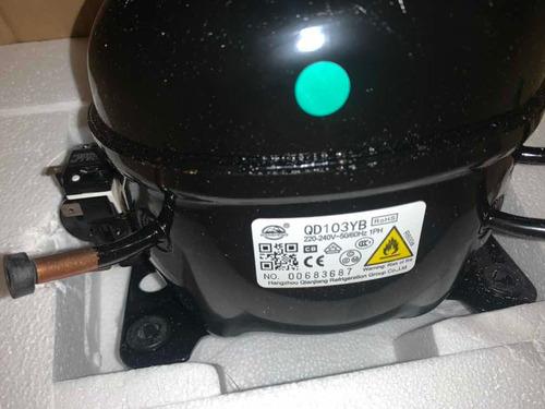 Compresor R600a Nuevo 1/6+ Hp Para Refrigeradora Congeladora