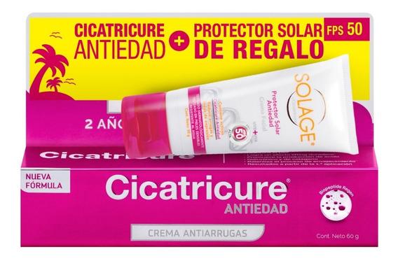Cicatricure Crema Antiedad 60g + Protector Solar Fps50 50grs