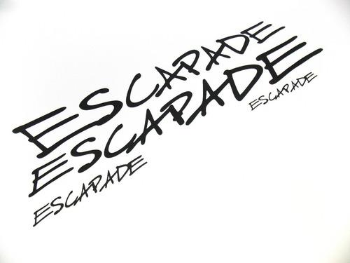 Kit Emblemas Adesivos Peugeot 206 Escapade Escp01
