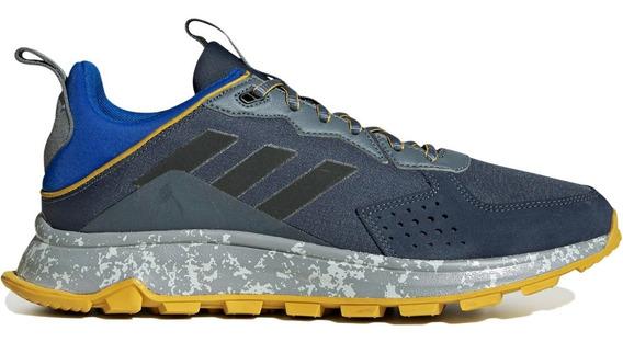 Tenis adidas Response Trail Gris Azul Correr Running Hombre