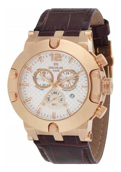 Relógio Seculus Moderno Cronógrafo Rosê 24703gpsgrc4