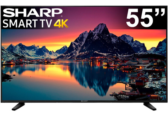Pantalla 55 Pulgadas 4k Televisor Sharp Smart Tv Hdr Full Hd