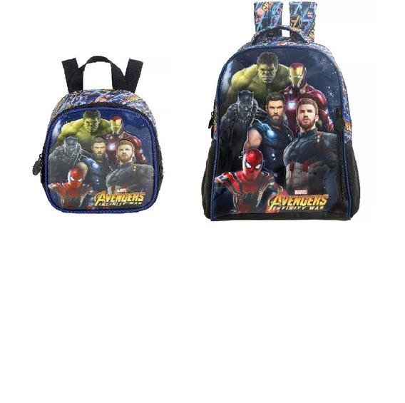 Kit Mochila + Lanch + Estojo Avengers 7462 - Original