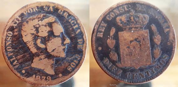 España Moneda Del Año 1879 - 5 Céntimos - Alfonso Xii
