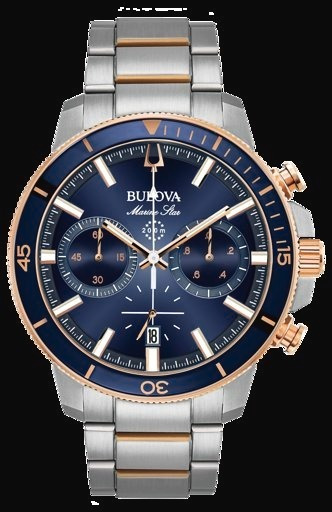 Relogio Masculino Bulova Marine Star 98b301 - Frete Gratis