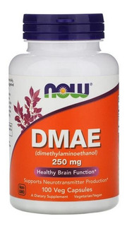 Now Foods Dmae 250 Mg 100 Cápsulas Vegetais