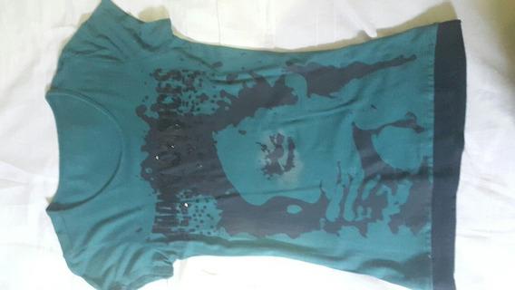 Camiseta Blusa Feminina Verde Escuro