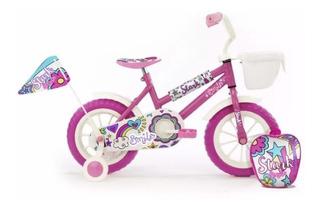 Bicicleta Rodado 12 Nena Niña Stark 6047 Rueditas Mochila