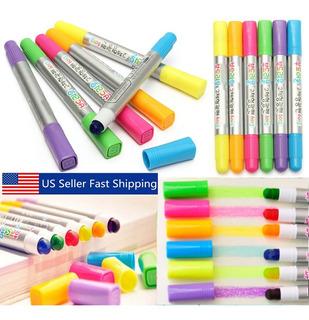 6 Unids 80 Mm Color Highlighter Gel Fluorescente Pintura Sól