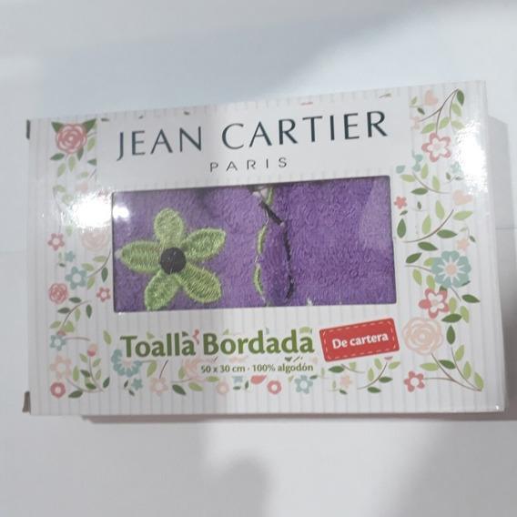 Toallita De Cartera Bordada. 100% Algodón