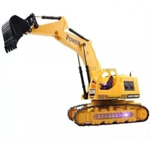 Retro Excavadoras Truck A Control Remoto 5 Canales