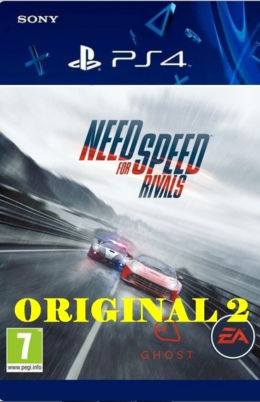 Need For Speed Rivals - Ps4 Psn Cod 2 Env Já