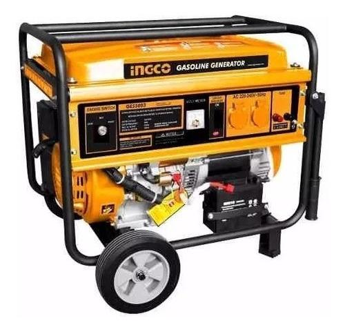 Generador Ingco 5.5 Kw 4 Tiempos Arranque Electrico Ge55003
