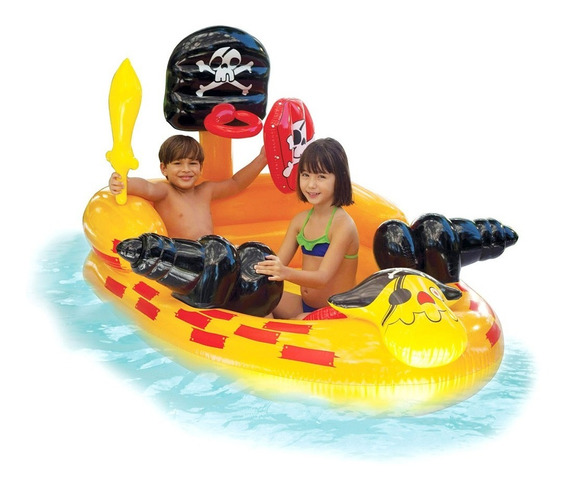 Barquinho Inflável Intex Canhão Pirata Centro Jogos