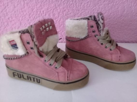 Padrisimos Zapatos Dama Con Plataforma Color Rosa Talla 24