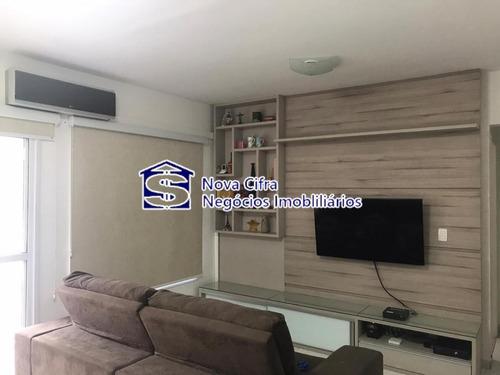 Imagem 1 de 15 de Apartamento 02 Dorms (01 Suíte) No Jardim Aquárius - 77 M² - Ap5983