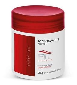 Pó Descolorante Dust Free Super Red 200mg + Cumbuca E Pincel