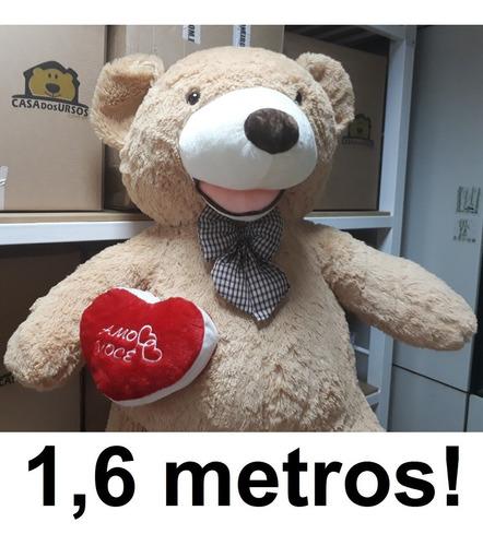 Pelúcia Gigante Gordo Fofo 1,60 Mts 160cm Com Coração Amor
