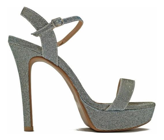 Zapato De Mujer Taco Fino Alto Plataforma Glitter Comoda Day