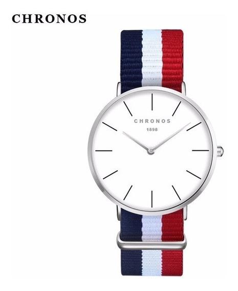 Relógio Unissex Chronos 1898 - Super Oferta