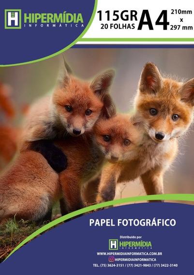 Papel Fotográfico Brilho 115g 200 Folhas