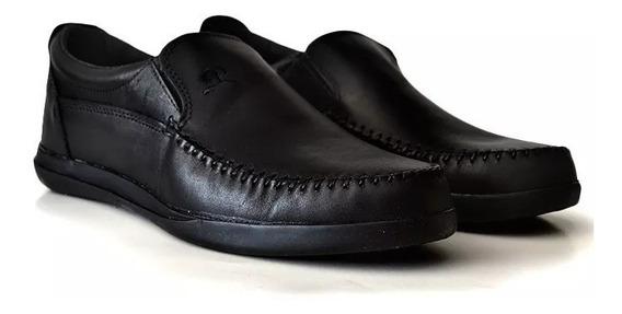 Zapato De Hombre Mocasin Nautico Cuero