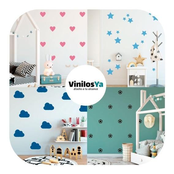 Vinilos Decorativos Infantil Mini Trama Estrellas Triangulos