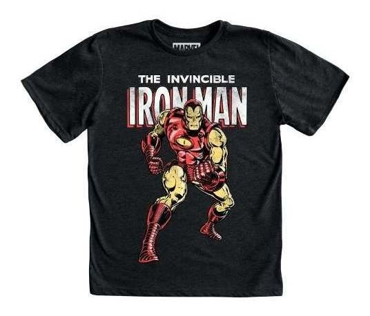 Playera Mascara De Latex Iron Man Mlmv Niño